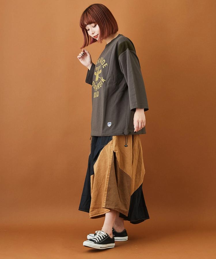 日本品牌 8oz斜拚色氣球裙 兩色 size