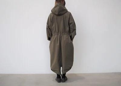 日本奶奶家 棉三十織山的連帽縮腰洋 三色 size