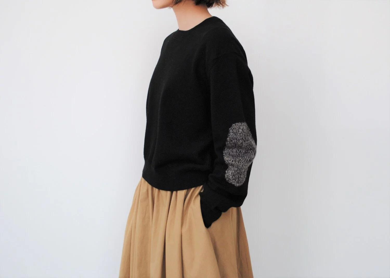 日本奶奶家 肘拼布氂牛上衣 四色 size