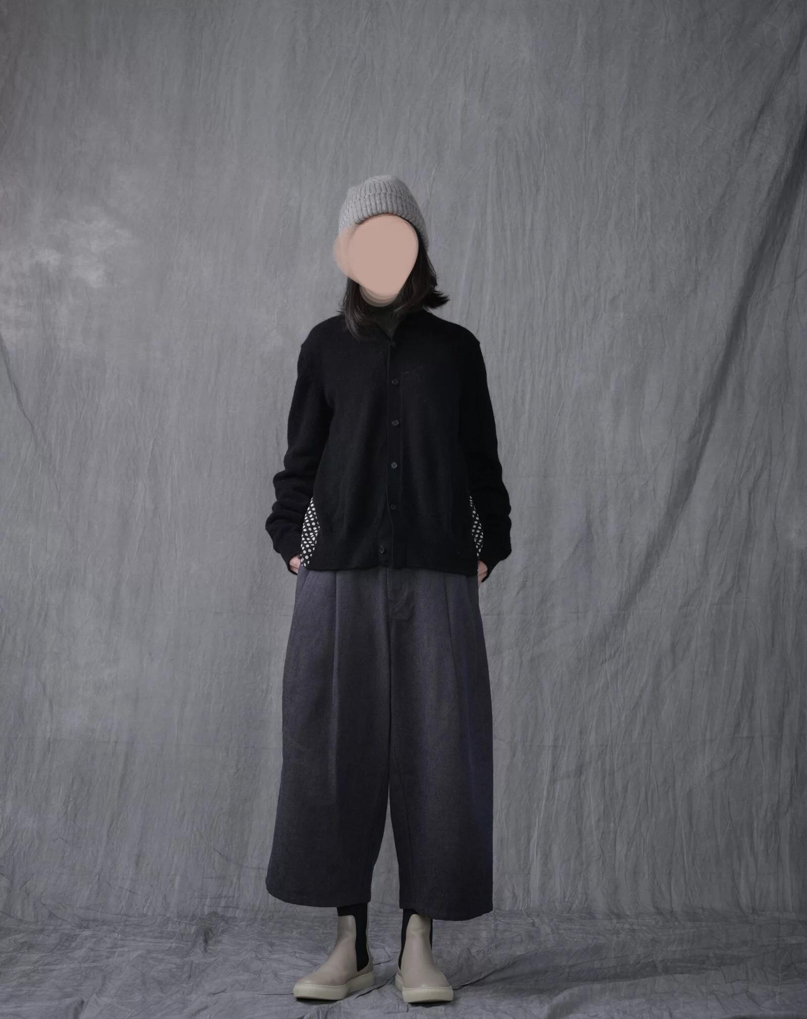 日本奶奶家 駝毛x亞麻小寬褲 size