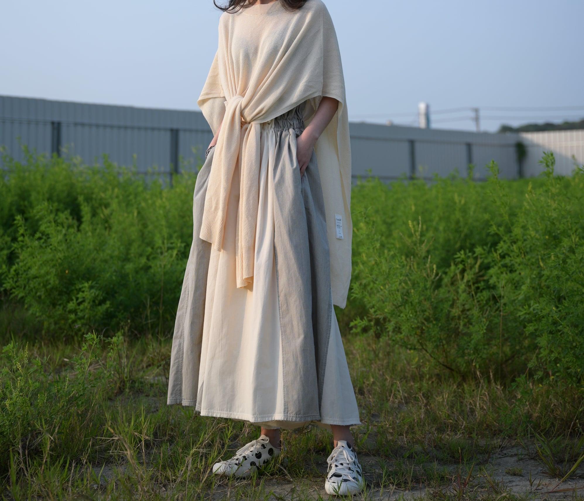 日本奶奶家2號 拼布綁帶寬褲 size