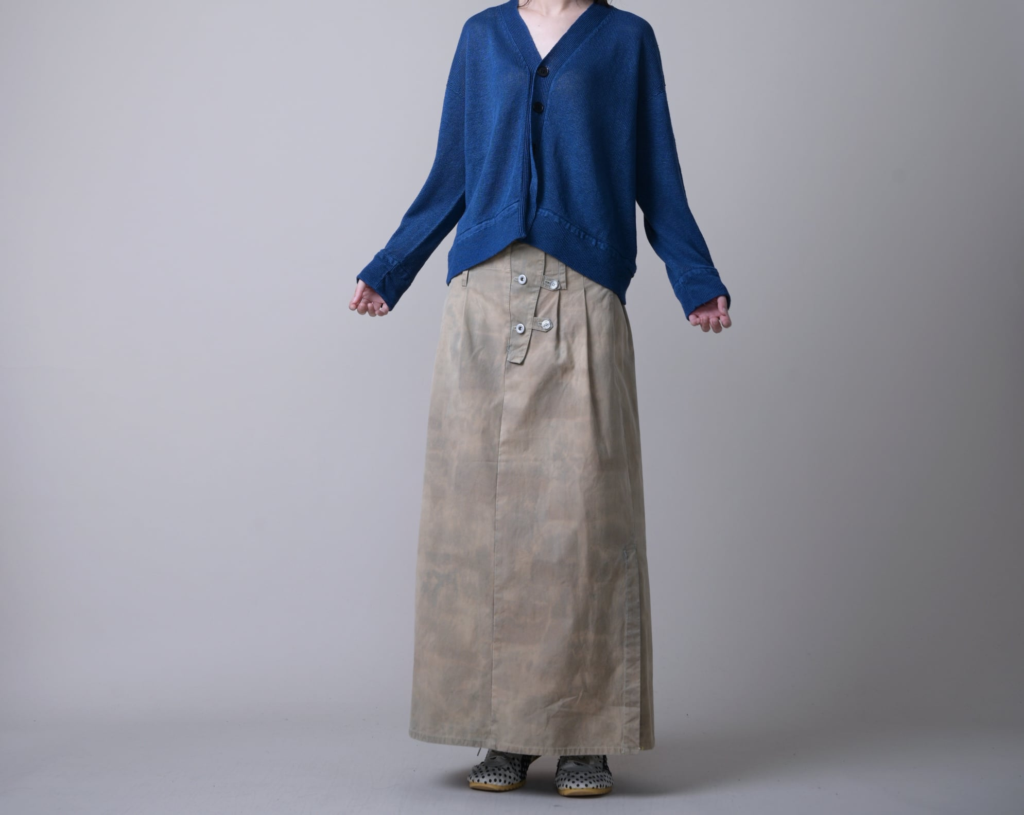 日本奶奶家2號 高腰手繪裙 size