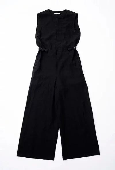 日本奶奶家2號 愛爾蘭麻連身褲 size