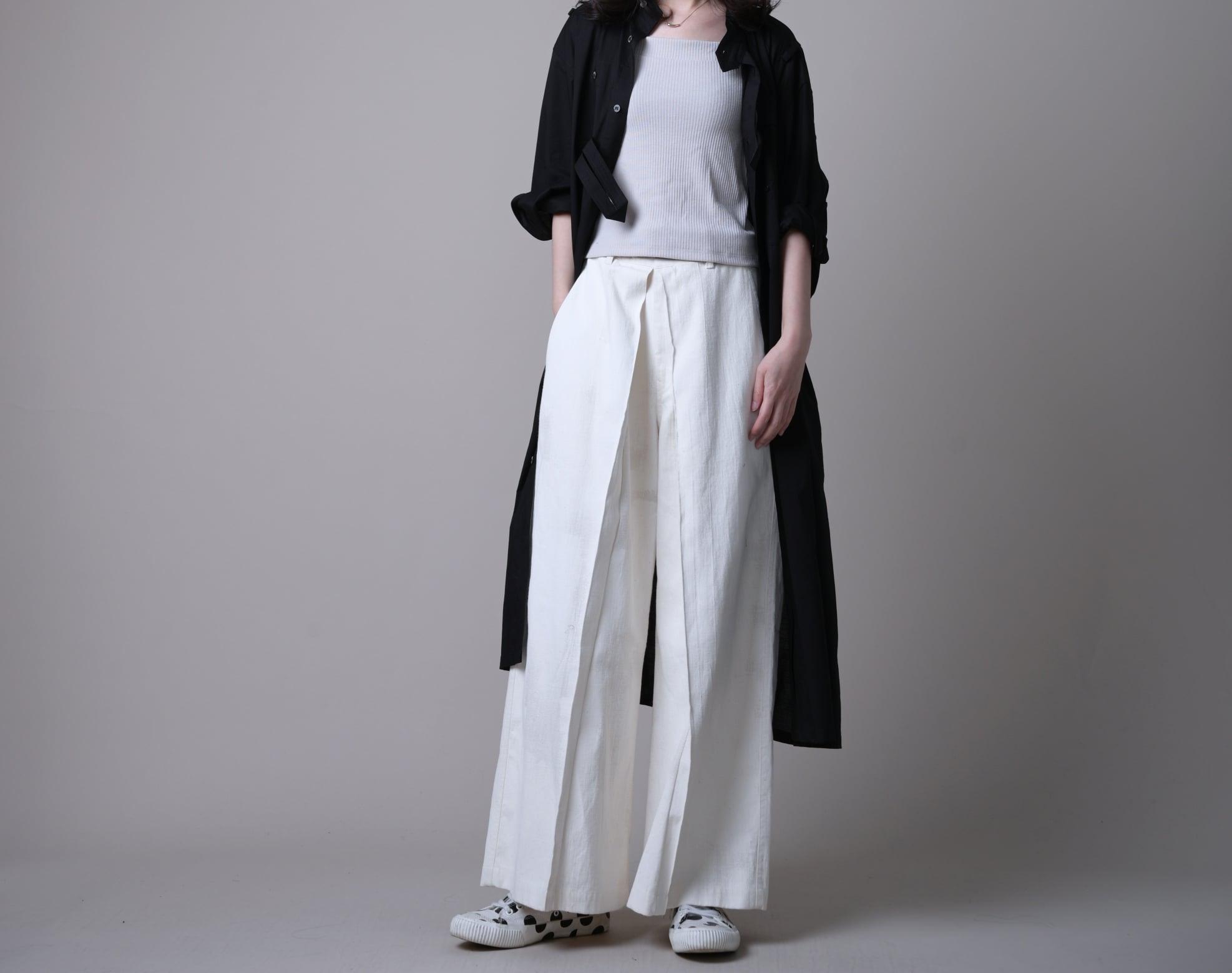 日本奶奶家2號 微暈打折寬褲 size